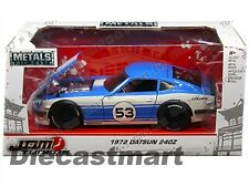 1972 DATSUN NISSAN 240Z JDM TUNERS BY JADA 99099 1:24 DIECAST MODEL CAR BLUE #53