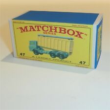 Matchbox Lesney 47 c DAF Tipper Container empty Repro E style Box