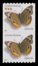 4002 Common Buckeye 24c Coil Pair Self-Adhesive Butterfly From 2006 MNH -Buy Now