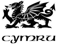 Welsh Dragon vinyl car Decal / Sticker