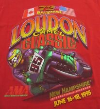 Vintage Ama 72nd Loudon Camel Classic Motorcycle Race 1995 Red Ss T Shirt Size M