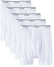 Fruit of the Loom Men's No Ride up Boxer Brief (Pack of 5) White X-Large