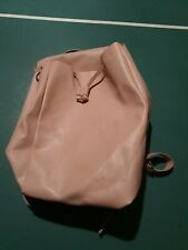 Zara Faux Leather Baby Pink Travel Backpack