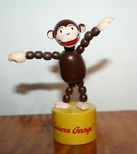 New ListingVintage Curious George Push Up Puppet Wooden Toy by Schylling Monkey