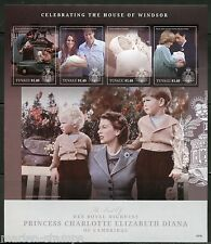 NEVER BEFORE OFFERED TUVALU  2015 BIRTH OF PRINCESS CHARLOTTE SHT WITH DIANA IMF
