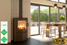 KOZA AB 2 - Free Standing Curved Contemporary Modern Wood burning Stove 10kw