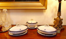 A Fine Pair c19th ROYAL WORCESTER Monogrammed Tureens & Stands, Mortlocks London