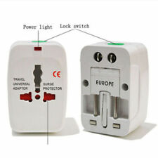 Us to Eu Europe and Universal Ac Power Plug World Travel Adapter Converter At