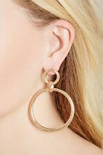 Dot & Line gold big small circle ring hoop fashion earrings