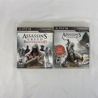 Assassin's Creed III & Brotherhood PS3 PlayStation 3 - 2 Game Lot
