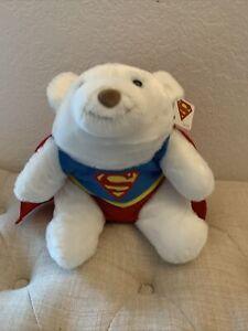 Gund DC Comics Superman Stuffed super hero Animal Polar Bear Plush Snuffles NWT