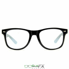 Black SPIRAL FX Diffraction Glasses GloFX Prism Rave Firework Rainbow 3D Trippy
