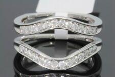 10K WHITE GOLD SOLITAIRE ENHANCER .53 CARAT DIAMOND RING GUARD WRAP WEDDING BAND