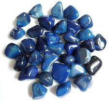 Pierres Roulées, Agate Bleu, 2 à 3cm, Lot de 10.Pierre,collection,cadeau,