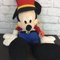 "Disney Store Mickey Mouse Holiday Nutcracker 2002 XL Stuffed AnimalPlush 30"""