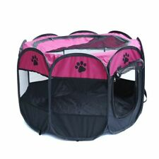 Pets Playpen Cage Puppy Cat Rabbit Portable Foldable Oxford Cloth Fabric Tent