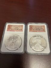 2012-S Silver Eagle $1 San Francisco 2 Coin Set | NGC PF70 & PF70 UC ER