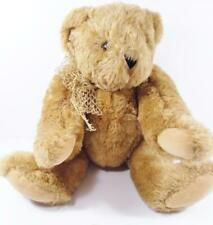 """Authentic Vermont Teddy Bear No. 1 Honey Brown Plush 16"""" Fully Jointed USA"""