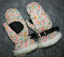 Hanna Andersson PINK FLORAL JOURNEY'S END MITTENS SMALL