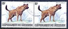 BURUNDI — SCOTT 601a — 1983 WILDLIFE WWF OVPT — 85F HYENA — USED PAIR — SCV $200