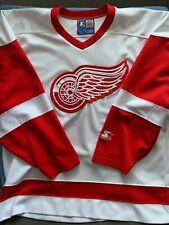 Detroit Red Wings XL White Vintage Starter NHL Jersey