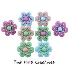 La felicidad florece desde Vestido para arriba Novedad Craft Botones Flor Pétalo de diversión