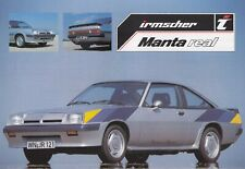 OPEL MANTA IRMSCHER REAL B Coupe Sondermodell Prospekt Brochure Sheet 1981 80