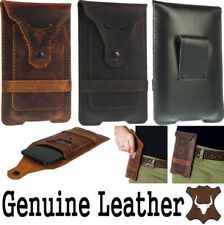 BULL'S HEAD WAIST POUCH WITH CARD POCKET GENUINE LEATHER CASE FOR MOBILE PHONES