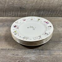 Rosanna 12 Days Of Christmas Gold Trim Accent Salad Plates Set of 4 Holiday