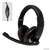 MHS-U-001 Stereo Headset with Microphone for PC Laptop Skype Livechat Headphones