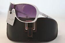 Occhiali da sole da donna con montatura in bianco, con 100% UV400