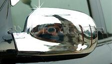 Chrome Side Rear View Mirror Trim Cover for 01-04 Hyundai Santa Fe w/Tracking No