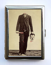 Victorian Headless Man Cigarette Case id case Wallet Business Card Holder