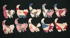10 Primitive Cutter Quilt Long Hair Cats/Kittens! Cute! Scrapbooking! Applique!
