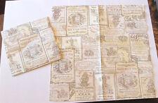 5 NEW GERMAN VICTORIAN AUSTRALIAN TEA EPHEMERA PAPER COLLAGE DECOUPAGE NAPKINS