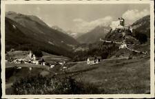 Tarasp und Fontana Schweiz Postkarte ~1930/40 Panorama Burg Berge