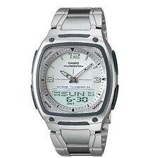Casio AW81D-7AV, Combo Watch, 30 Page Databank, 3 Alarms, 10 Year Battery
