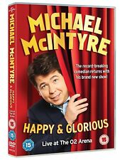 Michael McIntyre - Happy & Glorious Live at the O2 (DVD, 2015) NEW SEALED PAL R2
