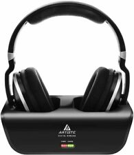 Artiste ADH300 Wireless TV Headphones 2.4GHz Digital Over-Ear Stereo Headphones