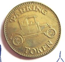 Brass Parking Token Vintage Eagle and Convertible Auto