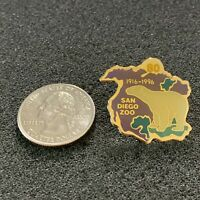 San Diego Zoo 80 Years 1916-1996 Polar Bear Travel Souvenir Pin Pinback #38359