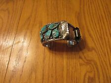 Southwest Style Sterling Silver Turquoise Watch Band Cuff Bracelet Kingman