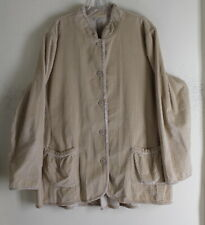 J.jill -Sz XL Exquisite Ivory Romantic Velvet Very Long A-Line Tunic Jacket Coat