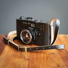 Leather Leica M5 Camera Strap - Horween Leather Black or Brown