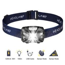 300LM LED Headlamp Head Torch Light Flashlight Rechargeable Waterproof Gifts