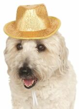 Animal Pet Dog Cat Gold Sequinned New Year Xmas Hat Fancy Dress Costume Outfit