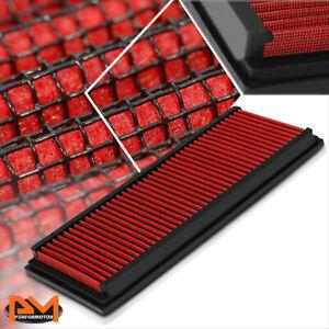 For 99-15 Mercedes-Benz V6/V8 Reusable Multilayer High Flow Air Filter Panel Red