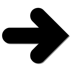 POINTING ARROW SIGN LASER CUT ACRYLIC PLASTIC 3MM THICK - PERSPEX