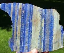 NEW Blue LAPIS LAZULI ,550 gram slab cut chunk,Gemstone,Cabbing,lapidary