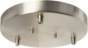 Towner Three-Light Cluster Canopy, Sea Gull Lighting 7449403-962, Brushed Nickel